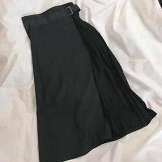 HARE - HARE プリーツラップアシメスカート