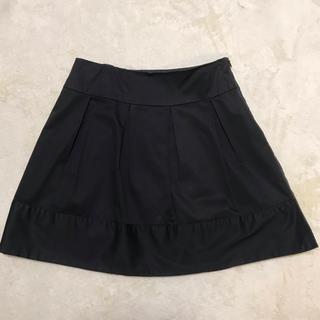 バイバイ(ByeBye)のミニスカート  サテン  黒  ブラック(ミニスカート)