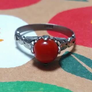 血赤珊瑚 サンプラチナ(SPM)リング(リング(指輪))