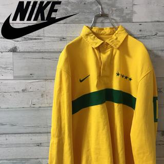 ナイキ(NIKE)の超美品 古着 ナイキ ラガーシャツ ブラジル代表(ポロシャツ)