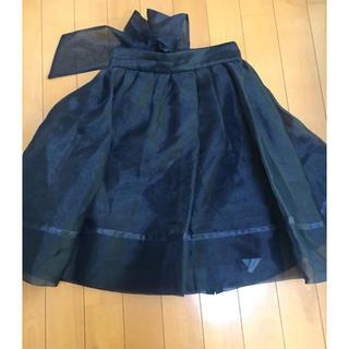 32ca31612c4ec スナイデル(snidel)のsnidel バックリボン オーガンジースカート(ミニスカート)
