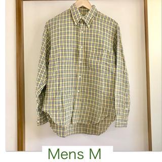 シュガーケーン(Sugar Cane)の【sugercane/シュガーケーン】綿の長袖メンズチェックシャツM  (シャツ)