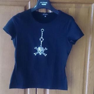 エポカ(EPOCA)のエポカラインストーンつきTシャツ(Tシャツ(半袖/袖なし))