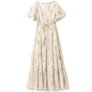 c0be3aa6b0752 ジェラートピケ(gelato pique)の中花柄前開きドレス ミドルフラワーロング