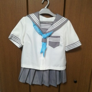 灰色セーラー服一式✳コスプレ✳制服✳衣装(衣装一式)