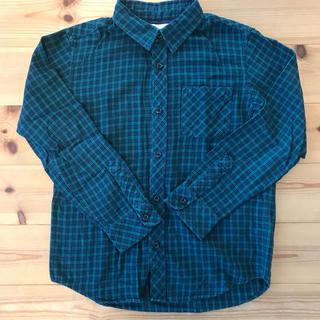 ジーユー(GU)のジーユー    男女兼用   チェックシャツ  140(ブラウス)