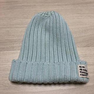 シマムラ(しまむら)の☺︎ミントグリーン 帽子(ニット帽/ビーニー)