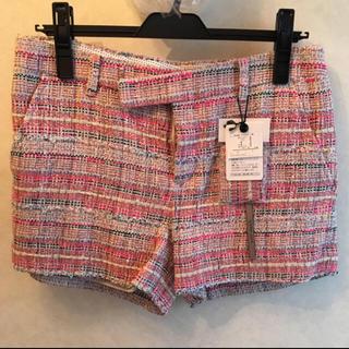 ダブルスタンダードクロージング(DOUBLE STANDARD CLOTHING)のダブスタ ツイードピンク ショートパンク(ショートパンツ)