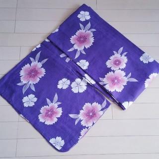 ♪美品♪紫♪パープル♪花柄♪浴衣♪(浴衣)
