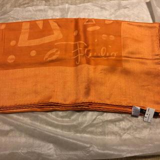 エミリオプッチ(EMILIO PUCCI)のエミリオプッチ 特大大判スカーフ オレンジ(バンダナ/スカーフ)