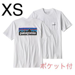 パタゴニア(patagonia)の最新2019 パタゴニア ポケット付 Tシャツ 希少XS 新品 White(Tシャツ/カットソー(半袖/袖なし))