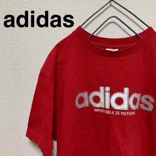 アディダス(adidas)の【美品】adidas Tシャツ レッドカラー(Tシャツ/カットソー(半袖/袖なし))