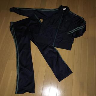 アディダス(adidas)のアディダス スポーツウェア 紺色 グリーンラメ S(ウェア)