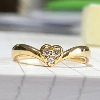 タサキ(TASAKI)の田崎真珠 k18ダイヤリング TASAKI SHINJU(リング(指輪))
