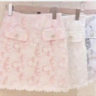 ByeBye - 【新品タグ付き】BYEBYE ビジュー 台形 花柄 レース スカート