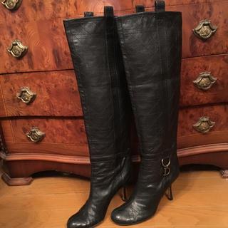ディオール(Dior)のディオール 黒 ブーツ (ブーツ)