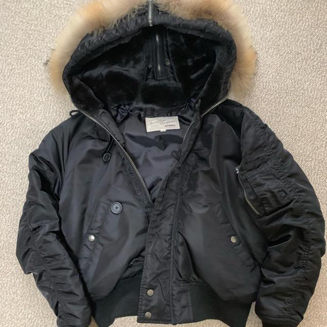 AVIREX(アヴィレックス)のavirex アヴィレックス N2B フライトジャケット リアルファー メンズのジャケット/アウター(フライトジャケット)の商品写真