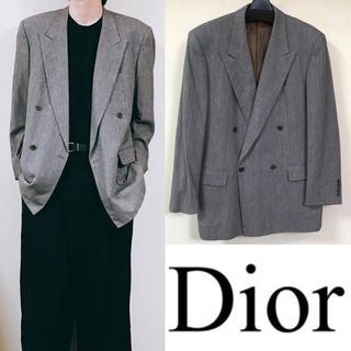 クリスチャンディオール(Christian Dior)のDior ディオール ダブルジャケット スーツ ワイドシルエット (スーツジャケット)