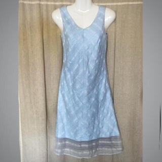 ヨンドシー(4℃)の4°C❤️裾レース 夏色ワンピース(ひざ丈ワンピース)