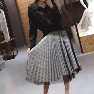 ディオール(Dior)の日本未発売 チュールレース スカート ディオール シャネル バレンチノ(ロングスカート)