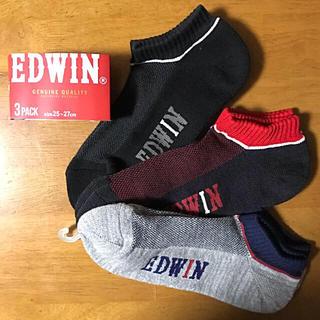 エドウィン(EDWIN)のメンズ靴下 EDWIN 25〜27㎝ 3足セット(ソックス)