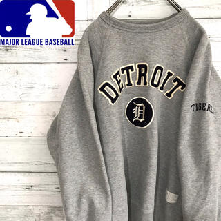 【レア】MLB☆デトロイト・タイガース 刺繍ワッペンビッグロゴ スウェット(スウェット)