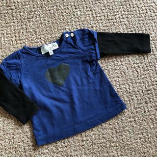 アニエスベー(agnes b.)のアニエス・ベー 70サイズ 長袖 ハート柄シャツ(Tシャツ)