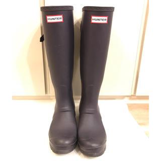 ハンター(HUNTER)の【ハンター】レインブーツ レインシューズ  23cm ダークパープル(レインブーツ/長靴)