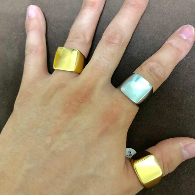 夏目前☆激安ステンレス リング ノンアレルギー メンズのアクセサリー(リング(指輪))の商品写真