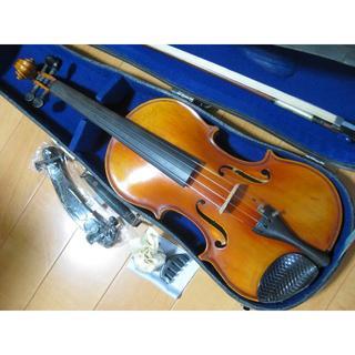 スズキ(スズキ)の【手工良杢】 国産オールドバイオリン SUZUKI 特No.1 4/4 セット(ヴァイオリン)