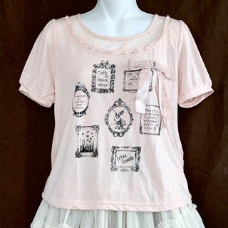 アクシーズファム(axes femme)の30.リボン付きTシャツ(Tシャツ(半袖/袖なし))