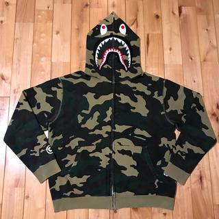 アベイシングエイプ(A BATHING APE)のwoodland camo シャークパーカー BAPE shark hoodie(パーカー)