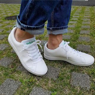 アディダス(adidas)の24.5㎝ ホワイト×グリーン⦅他サイズ22〜32㎝⦆【返品・交換/保証あり】(スニーカー)