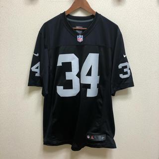 ナイキ(NIKE)の美品 NIKE NFL レイダース 34 JACKSON ゲームユニフォームL (アメリカンフットボール)