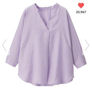 ジーユー(GU)のGU フレンチリネンスキッパーシャツ(シャツ/ブラウス(長袖/七分))