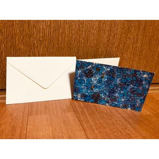 ☆未使用品☆ IL PAPIRO メッセージカードセット ブルー イルパピロ (カード/レター/ラッピング)
