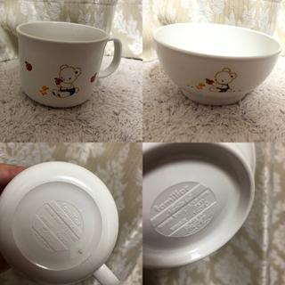 ファミリア(familiar)の新品未使用 自宅保管 ファミリア 茶碗コップセット(離乳食器セット)