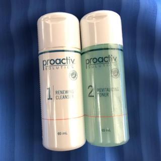 プロアクティブ(proactiv)の新品未開封プロアクティブ洗顔料薬用化粧水60mlセットproactiv(サンプル/トライアルキット)