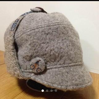 カシラ(CA4LA)のCA4LA 耳当てつき帽子(ニット帽/ビーニー)