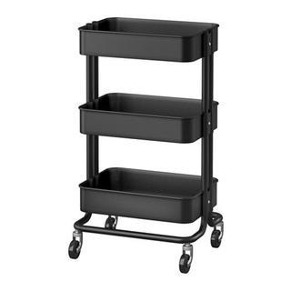 イケア(IKEA)の【送料込み】新品★IKEAイケア RASKOG ワゴン, ブラック(キッチン収納)