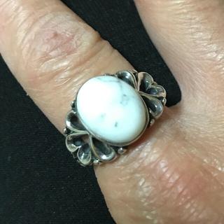 マライカ(MALAIKA)のインディアンジュエリー  ホワイトターコイズリング(リング(指輪))