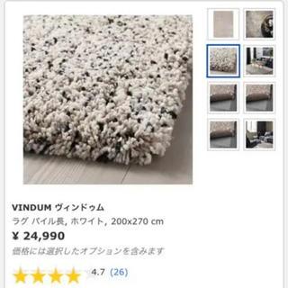イケア(IKEA)のイケア ラグ ウィンドゥム 200×270サイズ(ラグ)