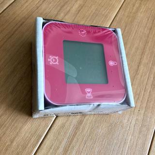 イケア(IKEA)のIKEA 多機能置き時計 デジタル ピンク 新品(その他)