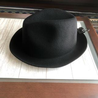 ムジルシリョウヒン(MUJI (無印良品))のハット 帽子 中折れ HAT 黒 MUJI 無印 良品 ウール(ハット)