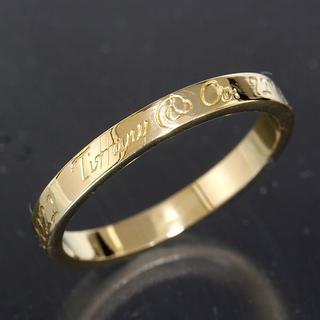 ティファニー(Tiffany & Co.)のティファニー TIFFANY&CO.ノーツ リング 19号 K18YG 新品仕上(リング(指輪))