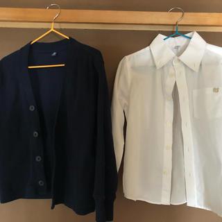 ユニクロ(UNIQLO)の正装 カーディガン シャツ セット  お呼ばれ キッズ 110(ドレス/フォーマル)