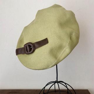 ミサハラダ(misaharada)のミサハラダ レザーベルトパッチ付きハンチング(ハンチング/ベレー帽)