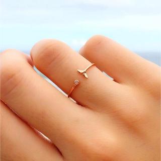 アリシアスタン(ALEXIA STAM)のsilver925 マーメイドリング CZダイヤ ピンクゴールド 指輪(リング(指輪))