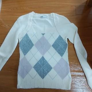 ザジ(ZAZIE)のZAZlEアーガイル柄セーター(ニット/セーター)
