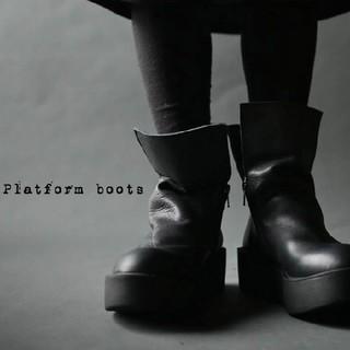 アンティカ(antiqua)のantiqua☆ブーツ☆黒☆sサイズ☆23☆モードカジュアル(ブーツ)